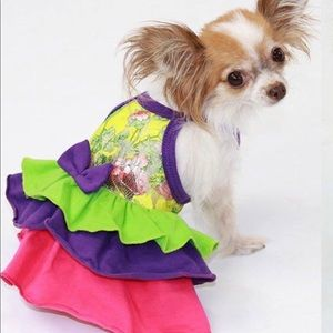 Cute small limited edition Dog dress Size Small